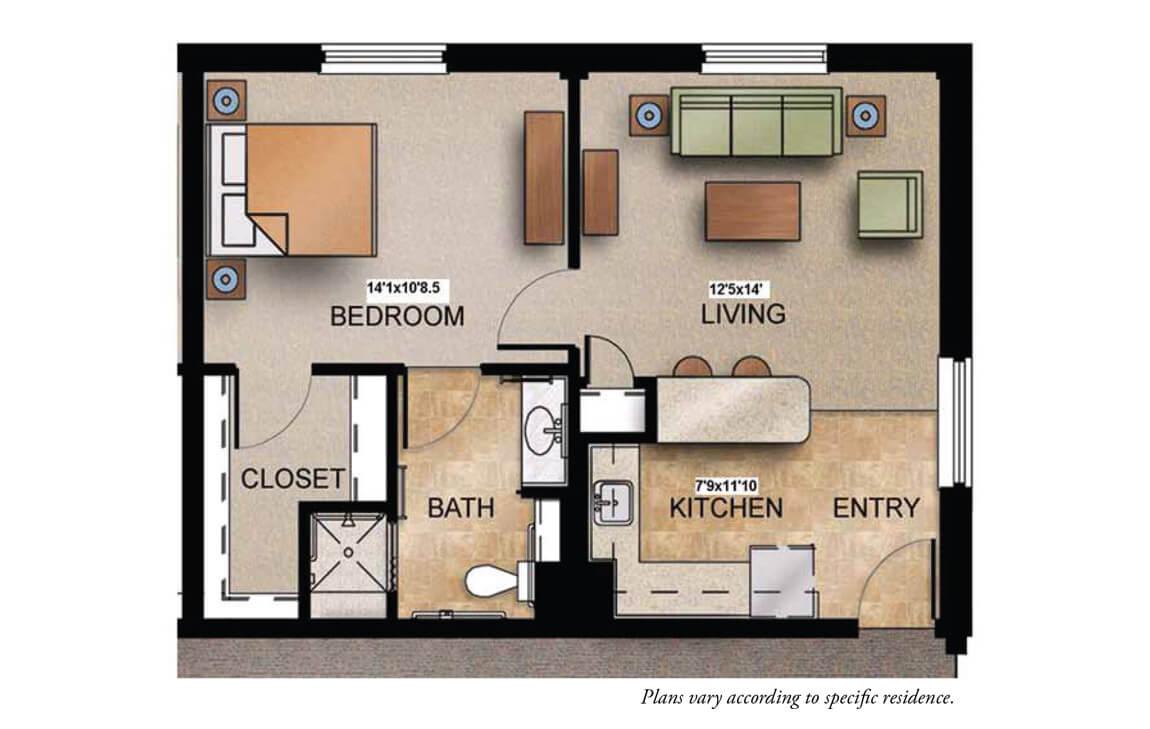 Trinity Woods Senior Apartment Floor Plans The Crestwood