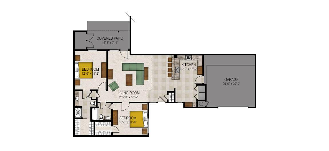 Trinity Woods Senior Apartment Floor Plans Patio Homes